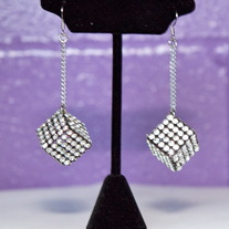 """Cee-Lo"" Rhinestone Dice Earrings"