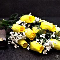 Yellow Dipped Wax Roses