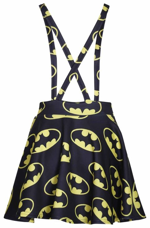 Superhero Comic Batman Suspenders Mini Skirt On Storenvy