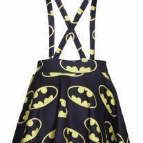 Superhero Comic Batman Suspenders Mini Skirt
