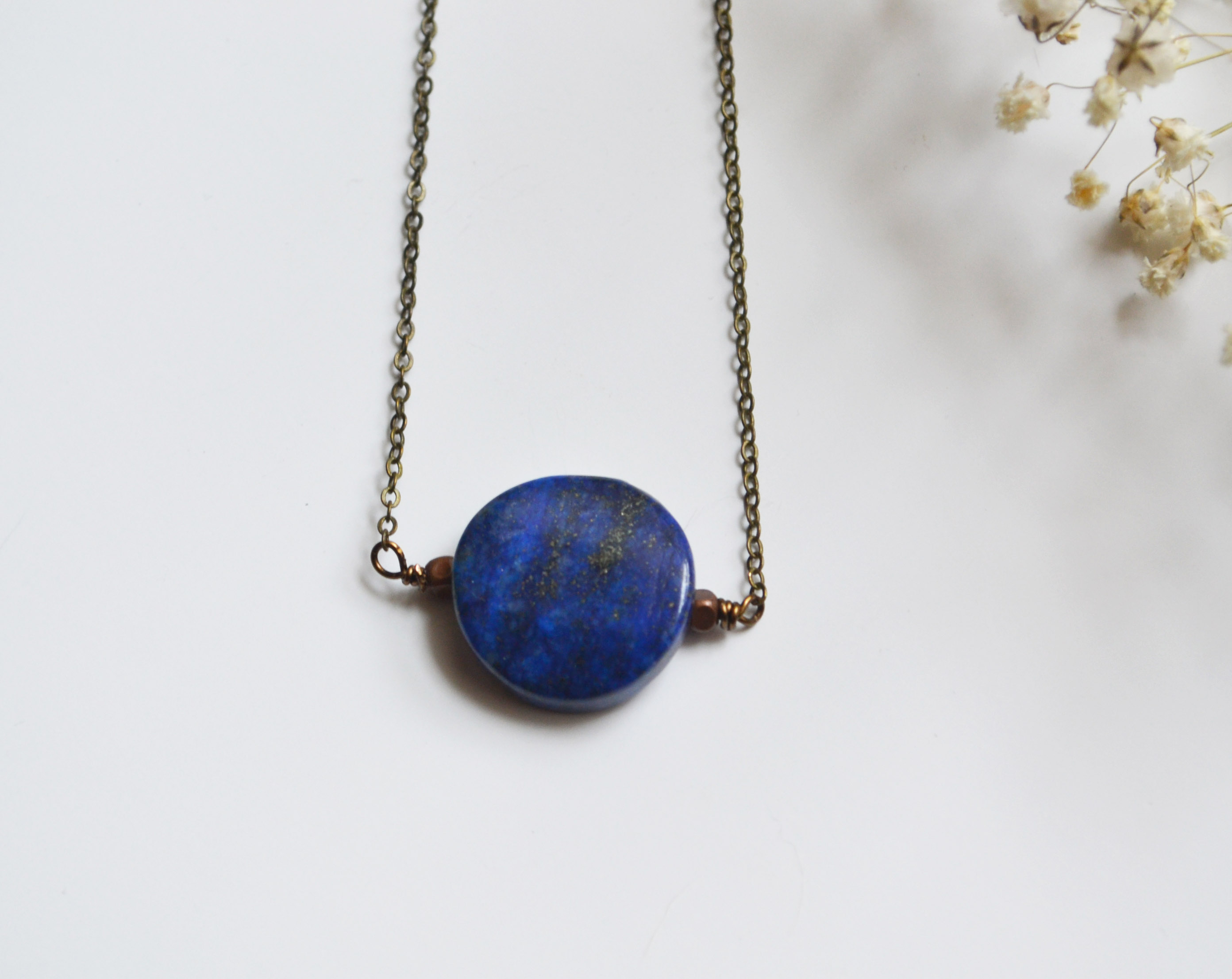 blue pendant diamond necklace