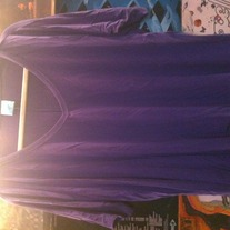 h.i.p. Purple V-Neck Slouchy Shirt M