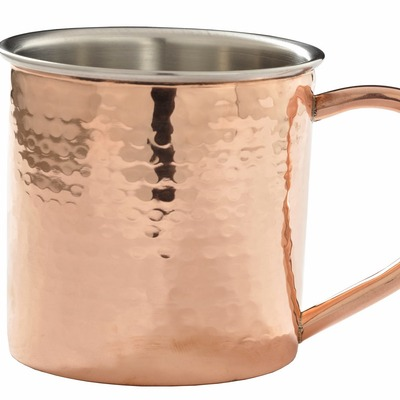 Double-wall hammered moscow mule mug - Thumbnail 2