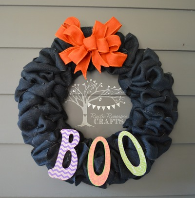 Boo Burlap Wreath