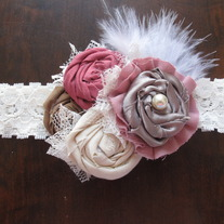 Chic Rose and Cream headband