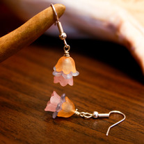 Cupcake Colored Lucite Earrings