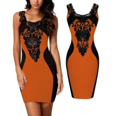 Lace decorated dress
