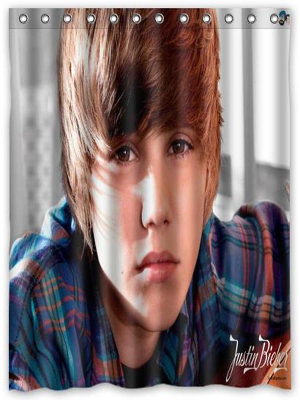 Justin Bieber Pop Singer Shower Locker Curtain 66
