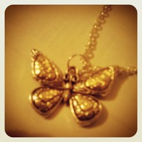 Gold & Antique Silver Butterfly necklace