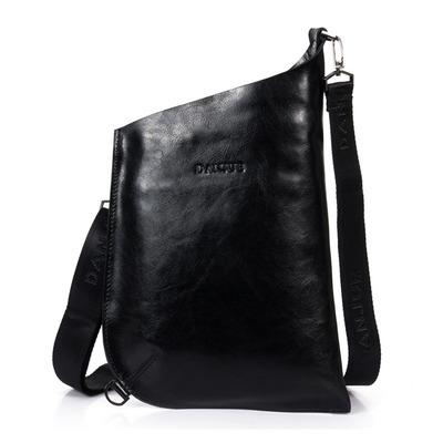 e9f0c659a223 Men s cowhide leather city courier bag workbag messenger crossbody bag  tablet bag-black