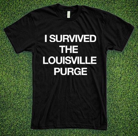 I survived the louisville purge t shirt 48 hour shirts for Louisville t shirt printing