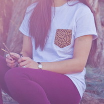 White Cheetah Pocket Punt T-Shirt