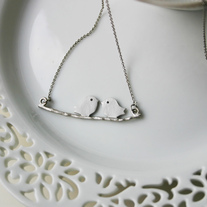 Love Birds on a Branch - Silver or Gold
