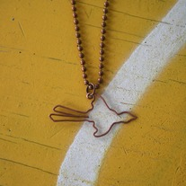Hammered Copper Scissortail Necklace