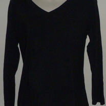 Black Long Sleeve Shirt-Ana Maternity Size XL