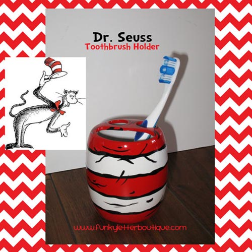 Cat In The Hat Bathroom Toothbrush Holder Kidu0027s Bathroom Decor