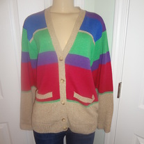 Ralph Lauren Vintage colorful Cardigan Sweater Size Large