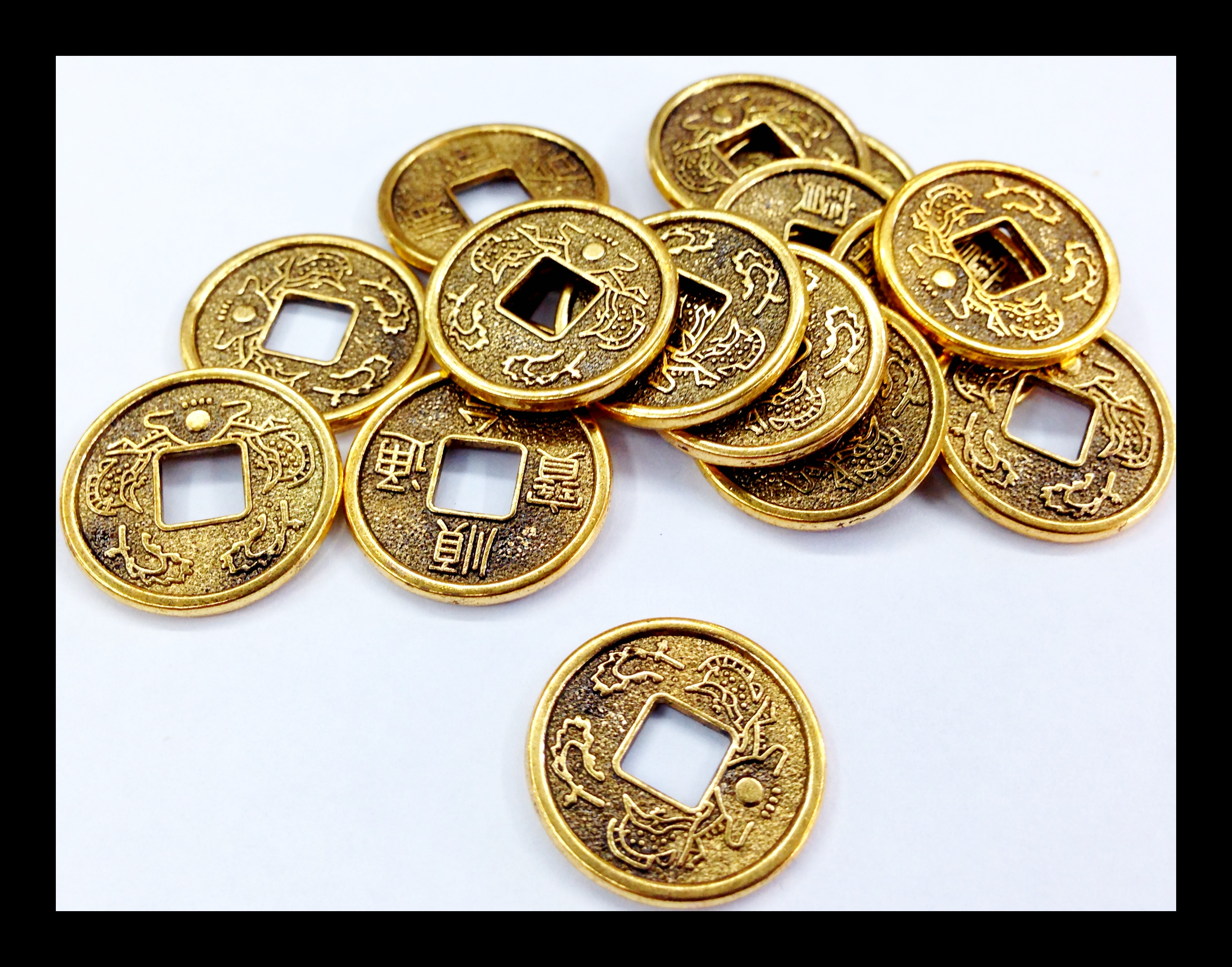 Ancient Chinese Coin Charm 100pcs 183 Beadshines 183 Online
