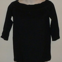 Black Wide Neck Top-Old Navy Maternity Size Small  CLTE2
