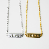 Love Banner Necklace