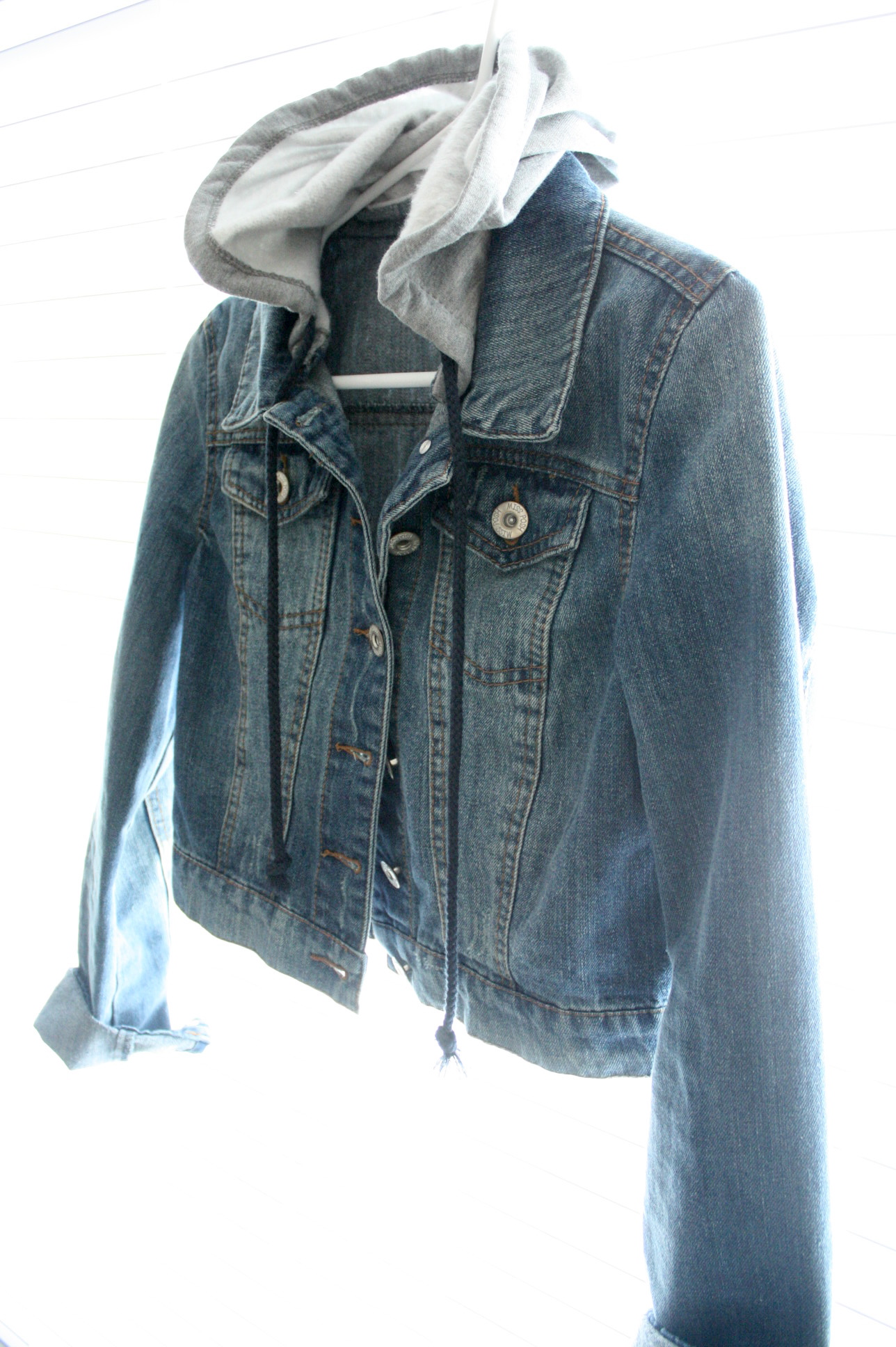 The Daylee Journal Thrift Shop Denim Jacket With Hood Online Store Powered By Storenvy