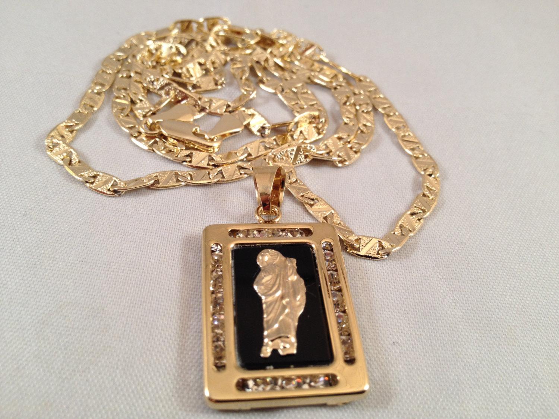 San judas cadena oro negro rosario sinaloense medalla k religioso san judas cadena oro negro rosario sinaloense medalla k religioso saint jude gold rosary necklace black mozeypictures Gallery