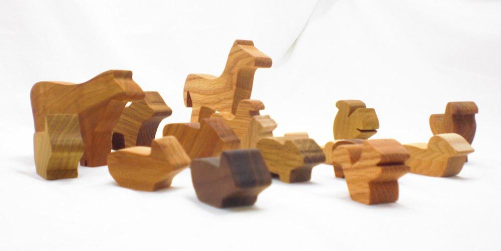 wood farm toys