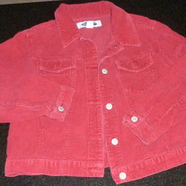 Red Corduroy Jacket-Old Navy Size 12