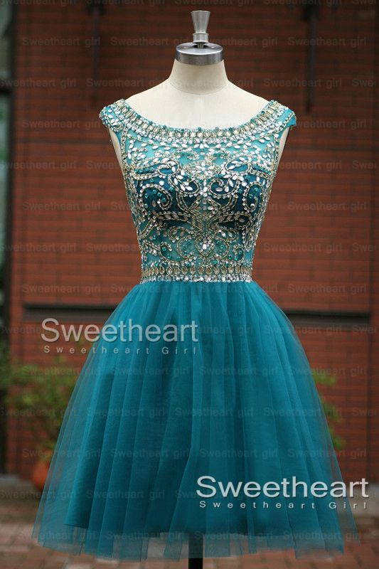 Sweetheart Girl | Turquoise Tulle Short Homecoming Dresses, Prom ...
