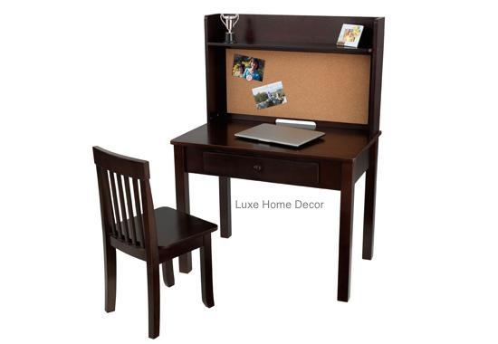 Junior Executive Desk Set Luxe Home Decor Furnishings