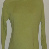 Green Ribbed Turtleneck Sweater-In Due Time Size Small