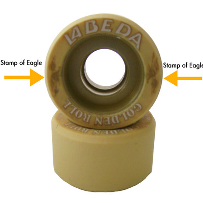 Labeda golden roll roller skate wheels - naturally golden