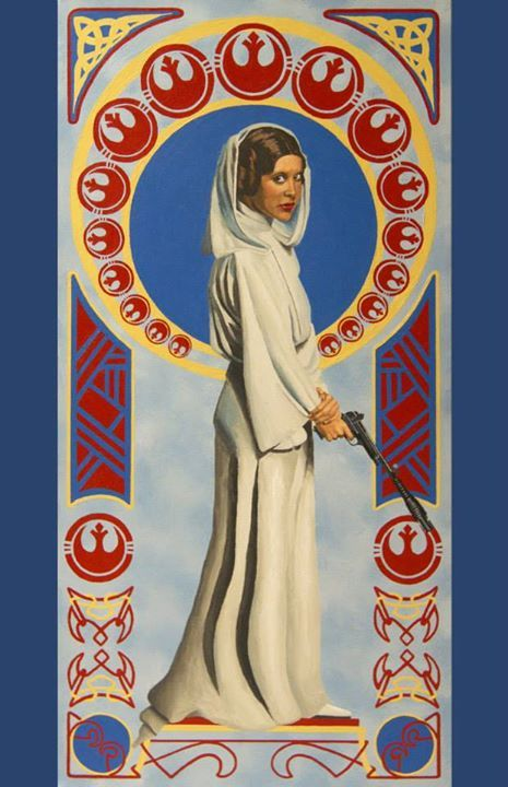 11 x 17 print art nouveau leia star wars cinema art by ness online store powered by. Black Bedroom Furniture Sets. Home Design Ideas