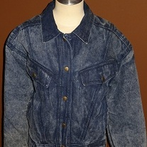 Denim Bomber Jacket Size S
