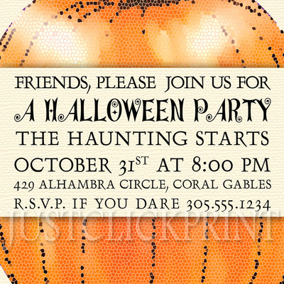 kids halloween birthday costume party photo invitation printable