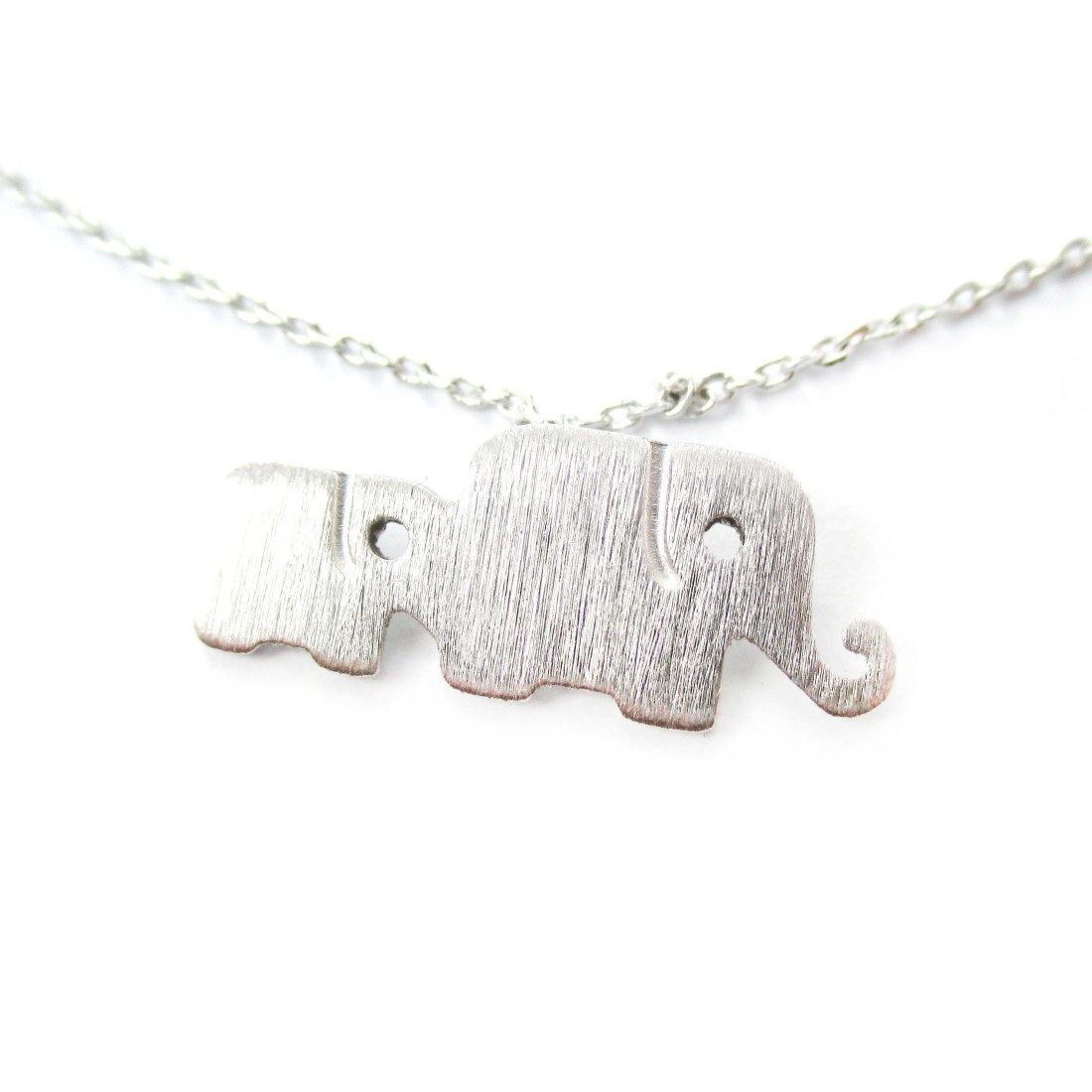 Classic elephant mother and baby family pendant necklace in silver from dotoly animal jewelry classic elephant mother and baby family pendant necklace in silver aloadofball Images