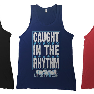 Caught in the rhythm -tanktop