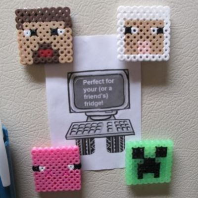 Minecraft magnets - set of 4