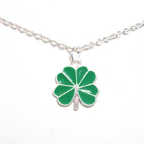 Cutout Full Shamrock Necklace
