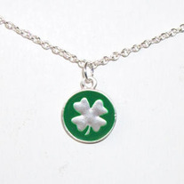 Round Shamrock Necklace