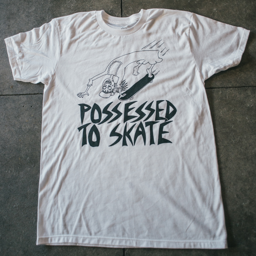 3cffbb6a893 POSSESSED TO SKATE TEE SHIRT · WAY BAD · Online Store Powered by ...