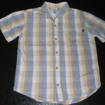 Multi Plaid Short Sleeve Shirt with Buttons/Collar-Old Navy Size 5T