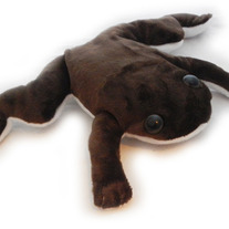 Brown African Clawed Frog Plush