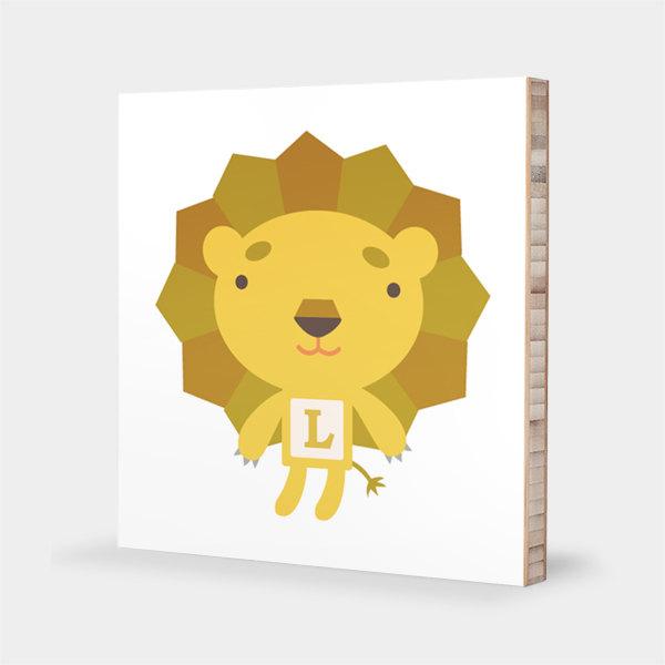 Tofufu | L for Lion : ABC Block Bamboo Wall Art Series // Alphabet ...