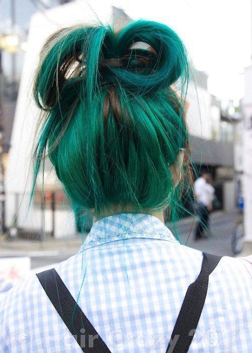 Как сделать волосы зеленые
