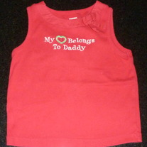 Red Tank My Heart Belongs To Daddy-Gymboree Size 5