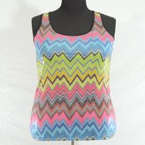 Layered With Love Tribal Print Sequined Tank Top