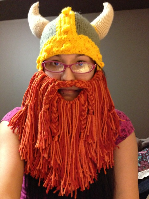 Knitted Cloche Hat Pattern Free : Full Beard (Viking Hat Attachment) ? Randomly Taylord ? Online Store Pow...