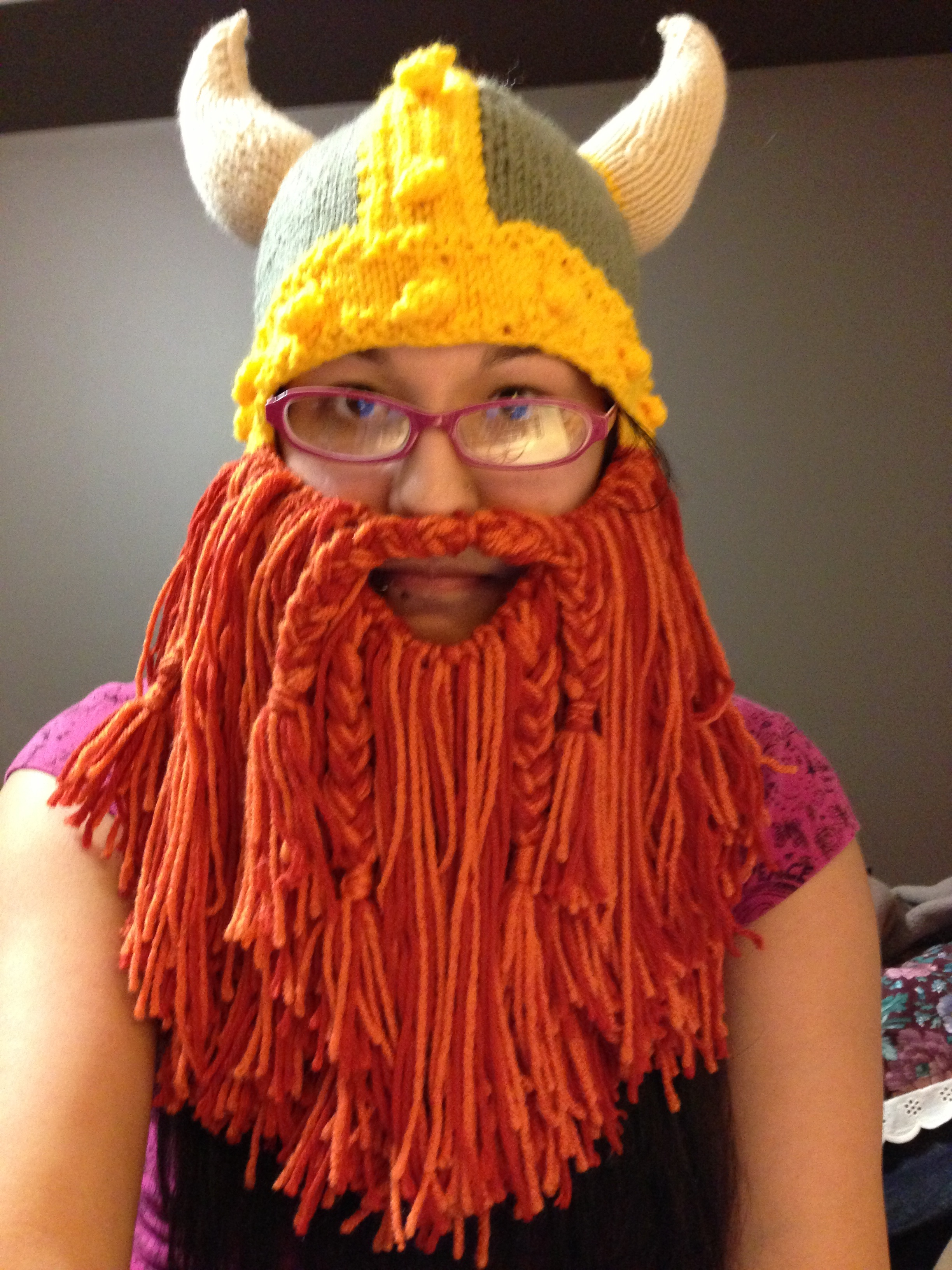 Knitting Patterns For Viking Hat : Full Beard (Viking Hat Attachment) ? Randomly Taylord ? Online Store Pow...
