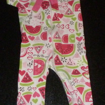 Pink/Green Watermelon PJ's-The Children's Place Size 12 Months